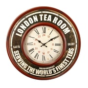 AdecoTrading Oversized 23.2'' Retro Round Roman Numerals ''London Tea Room'' Wall Hanging Clock