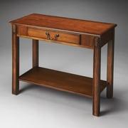 Butler Sheridan Console Table; Olive Ash Burl