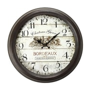 AdecoTrading 18.5'' Round ''Chateau Grand, Bordeaux'' Wall Hanging Clock