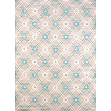 United Weavers of America Regional Concepts Trellis Blue Area Rug; Rectangle 2'7'' x 3'11''