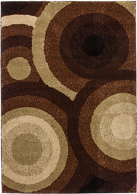 Well Woven Avenue Positive Circles Brown Area Rug; 8'2'' x 9'10''