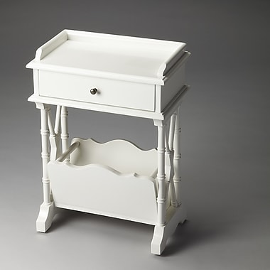 Butler Cummings End Table; Glossy White