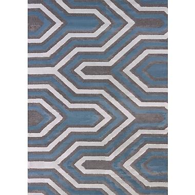 United Weavers of America Modern Texture Cupola Charcoal Area Rug; Rectangle 5'3'' x 7'2''