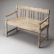 Butler Masterpiece Wood Bench; Driftwood
