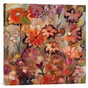 Global Gallery Garden of a Joyful Day by Joan Elan Davis Painting Print on Wrapped Canvas
