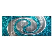 MetalArtscape Ocean Swirl 5 Piece Graphic Art Plaque Set