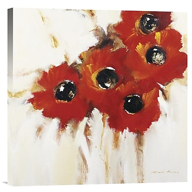 Global Gallery Crimson Poppies I by Natasha Barnes Painting Print on Wrapped Canvas