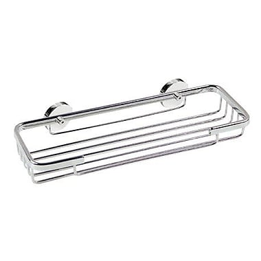no drilling required Roond Shower Caddy; 1.38'' H x 10.25'' W x 3.5'' D