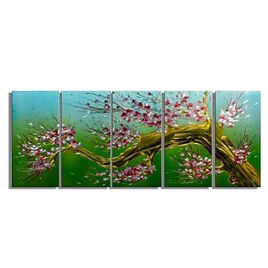 MetalArtscape Spring Blossom 5 Piece Graphic Art Plaque Set