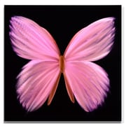 MetalArtscape Nova Butterfly Graphic Art Plaque in Pink