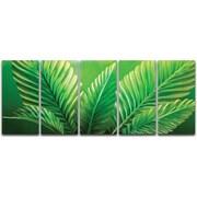 MetalArtscape Palms 5 Piece Graphic Art Plaque Set