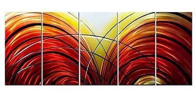 MetalArtscape Fahrenheit 451 5 Piece Graphic Art Plaque Set