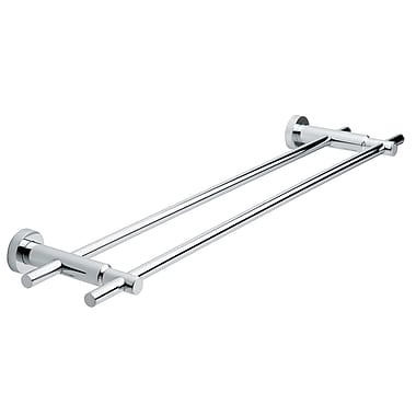 no drilling required Loxx Double Wall Mounted Towel Bar