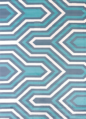 United Weavers of America Modern Texture Cupola Blue Area Rug; 7'10'' x 10'6''