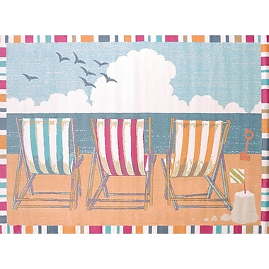 United Weavers of America Regional Concepts Seaside Chairs Area Rug; Rectangle 2'7'' x 3'11''