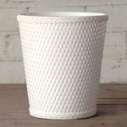 LaMont Carter Plastic Trash Can; White