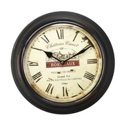 AdecoTrading 11.8'' Circular ''Bordeaux'' and Roman Numerals Wall Hanging Clock