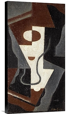 Global Gallery Glass by Juan Gris Painting Print on Wrapped Canvas