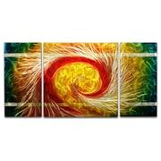 MetalArtscape The Phoenix 3 Piece Graphic Art Plaque Set