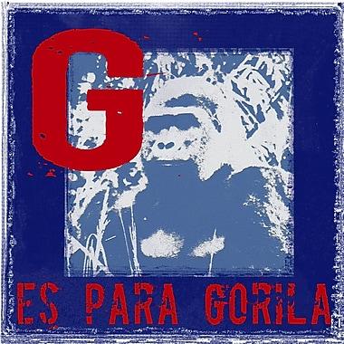 Graffitee Studios El Alfabeto de Animales G es Para Gorila Graphic Art on Wrapped Canvas