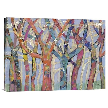 Global Gallery Tree Party III by M.J. Beswick Painting Print on Wrapped Canvas