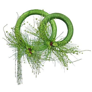 Fantastic Craft 2 Piece Holly Wreath Set; Green