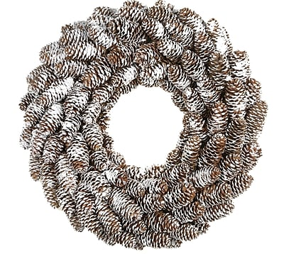 Fantastic Craft Pinecone Wreath; Snow