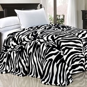 BOON Throw & Blanket Safari Flannel Fleece Blanket; Queen