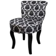 ORE Furniture Damask Side Chair; French Black / White