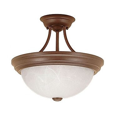 Millennium Lighting 2-Light Semi-Flush Mount; Bronze