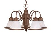 Millennium Lighting 5-Light Shaded Chandelier; Bronze
