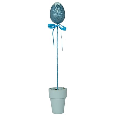 Fantastic Craft Tulip Egg Stick in Pot; Blue