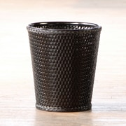 LaMont Carter Plastic Trash Can; Black