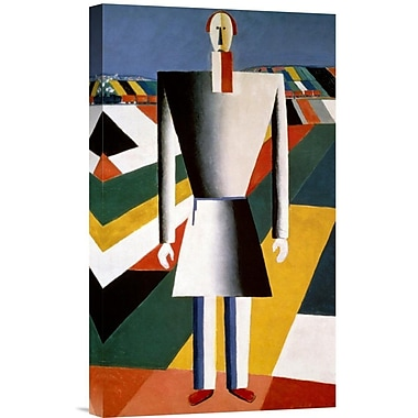 Global Gallery Farmer In The Field by Kazimir Malevich Graphic Art on Wrapped Canvas