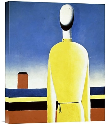 Global Gallery Complicated Anticipation by Kazimir Malevich Graphic Art on Wrapped Canvas