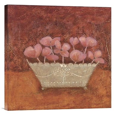 Global Gallery Tuscan Bowl w/ Flowers II by Jennifer Carson Painting Print on Wrapped Canvas