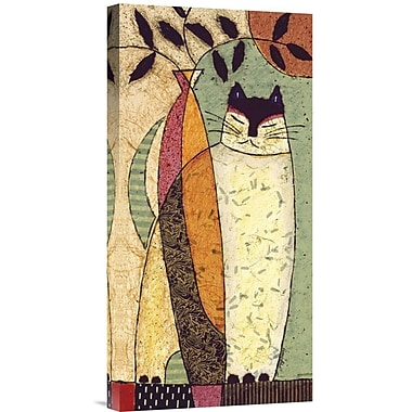 Global Gallery Cat I by Penny Feder Painting Print on Wrapped Canvas