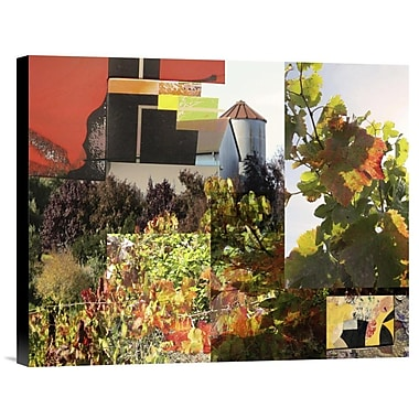 Global Gallery Napa Collage I by Suzanne Silk Graphic Art on Wrapped Canvas