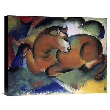 Global Gallery A Red Bull by Franz Marc Painting Print on Wrapped Canvas