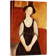 Global Gallery Portrait of Thora Klinckowstrom by Amedeo Modigliani Painting Print on Wrapped Canvas