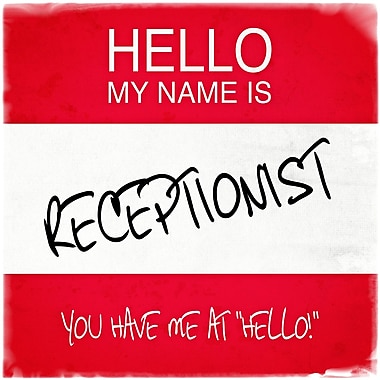 Graffitee Studios Hello My Name Is Receptionist Textual Art Arton Wrapped Canvas
