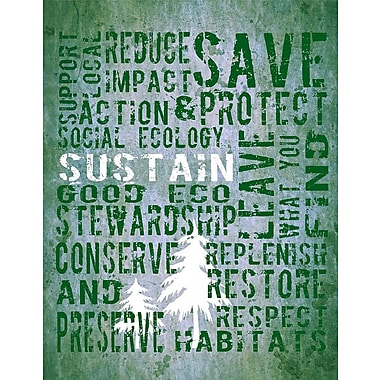 Graffitee Studios Play Series Sustain Trail Textual Art on Wrapped Canvas
