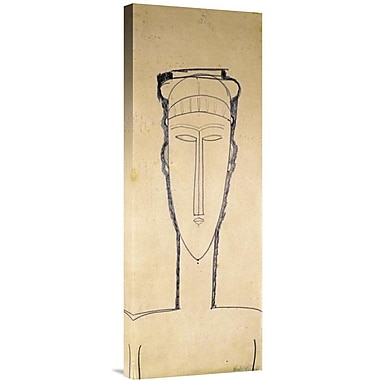 Global Gallery Tete De Cariatide by Amedeo Modigliani Painting Print on Wrapped Canvas