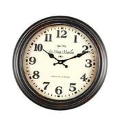 AdecoTrading 14.6'' Round ''Le Vieux Moulin'' Wall Hanging Clock