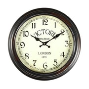 AdecoTrading 14.6'' Round ''Victoria Station'' Wall Hanging Clock