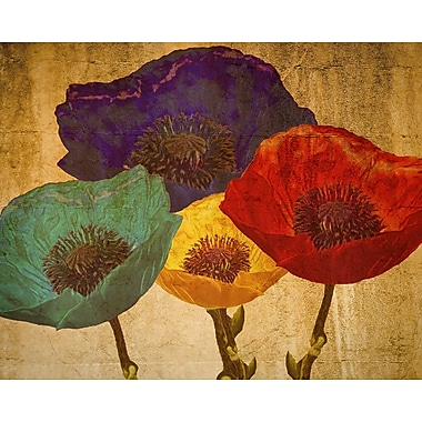 Graffitee Studios Poppies Painting Print on Wrapped Canvas
