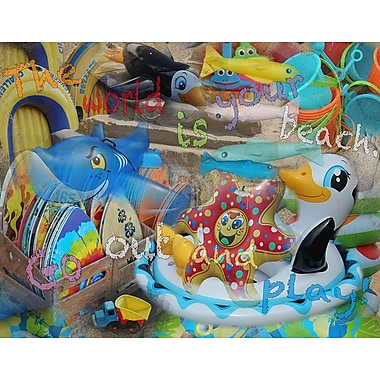 Graffitee Studios Rated G Kids The World is Your Beach Graphic Art on Wrapped Canvas