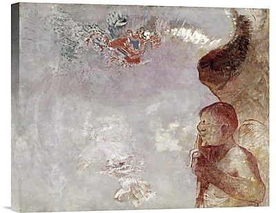 Global Gallery Profile of a Man by Odilon Redon Painting Print on Wrapped Canvas