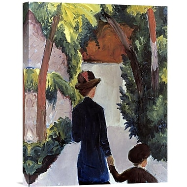 Global Gallery Mother & Child in the Park by August Macke Painting Print on Wrapped Canvas