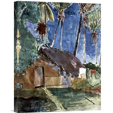 Global Gallery Tahiti Landscape by Paul Gauguin Painting Print on Wrapped Canvas